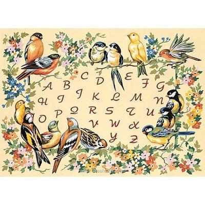 L'alphabet des oiseaux canevas de SEG