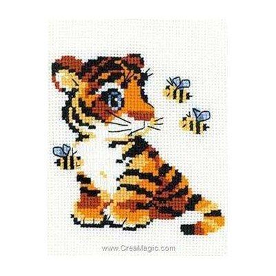 Mini point de croix RIOLIS tigron et abeilles