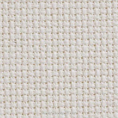 Toile aida 5.5 pts naturel - gold standard à broder - Charles Craft