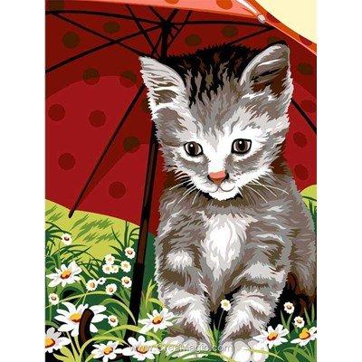 Chat sous le parapluie canevas - SEG