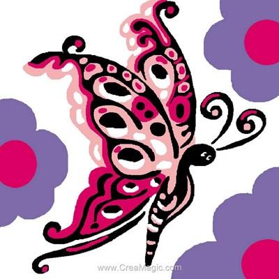 Kit canevas enfant papillon majestueux de Luc Création