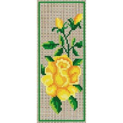 Marque page à broder roses jaunes d'or de Luc Création