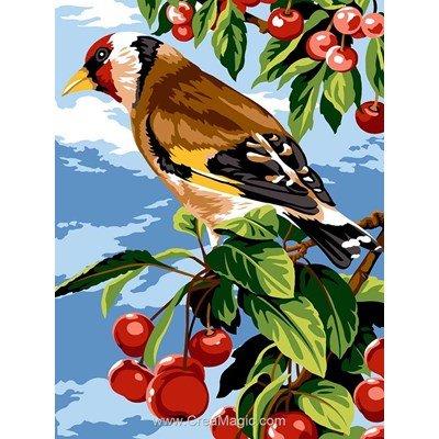 Canevas chardonnet et cerisier de Margot