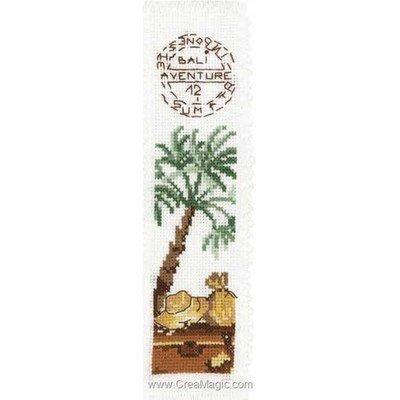Marque-page palmier à broder de Princesse
