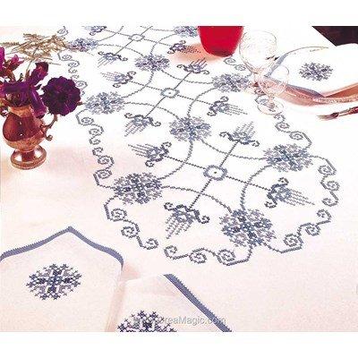 Serviette de table baltique en broderie au point de croix imprimé - Margot Broderie
