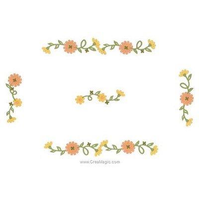 Napperon fleurs de l'été à broder aux points de broderie de Luc Création