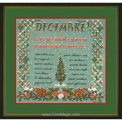 Broderie Le Bonheur Des Dames saison : le mois de décembre