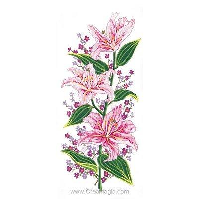 Canevas lys rose de Collection d'art