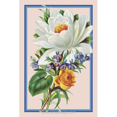 Broderie diamant water lily de Diamond Painting
