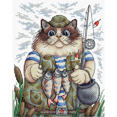 La broderie MP Studia chat pêcheur