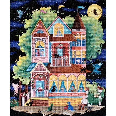 Modèle LETISTITCH au point de croix fairy tale house