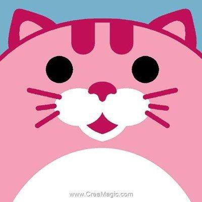 Chatte rose kit canevas avec fils - Margot