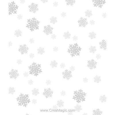 Toile aida 5.5 pts imprimée flocons argentés - Brod'star vierge à broder