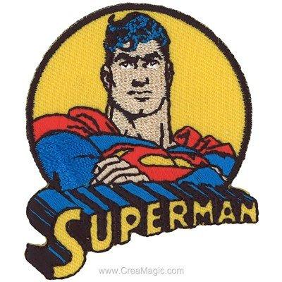 Ecusson thermocollant superman la légende - MLWD