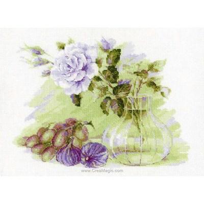 Modèle broderie rose et figues - RIOLIS