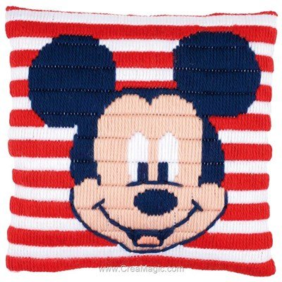 Coussin Vervaco disney mickey mouse marin au point lancé