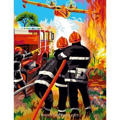 Canadair pompier canevas chez Mimo Verde