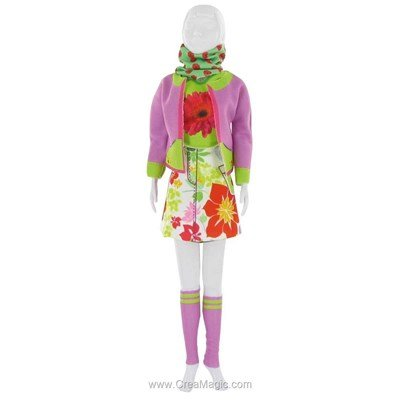 Couture candy flower DRESS YOUR DOLL pour barbie
