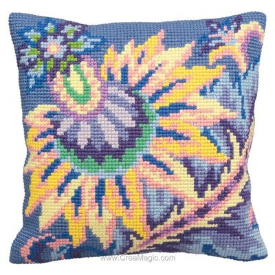 Kit coussin Collection d'art joie au point de croix