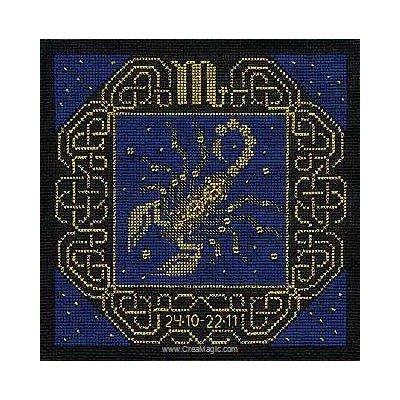 Point de croix RIOLIS le scorpion