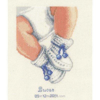 Tableau pr nom b b broder vervaco les petits chaussons fille ou gar on 2002 45232 - Bebe fille ou garcon ...