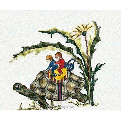 Kit Thea Gouverneur à broder turtle sur lin