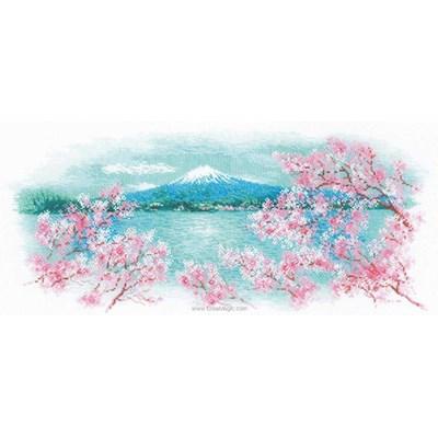 Point de croix compté sakura fuji de RIOLIS