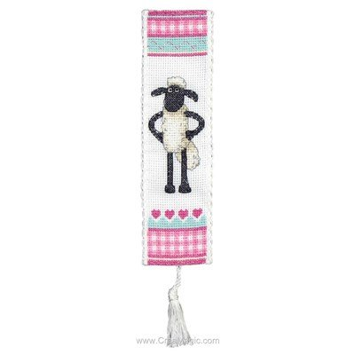 Marque page Anchor shaun the sheep à broder