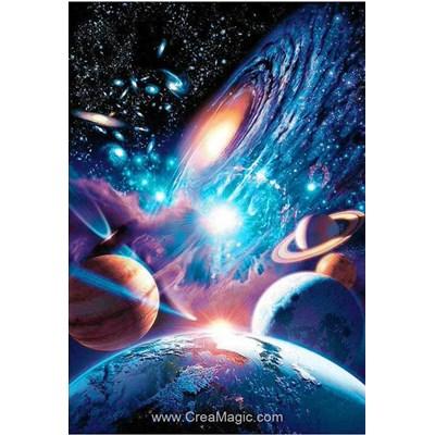 Broderie diamant l'univers, planètes et voie lactée de Wizardi