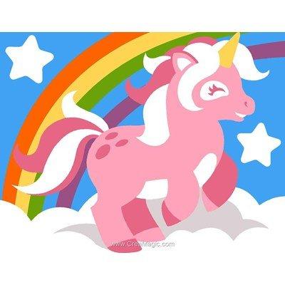 Kit canevas Margot pour enfant licorne et arc en ciel