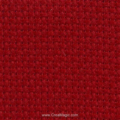 Toile aida 7.1 pts rouge de Brod'star