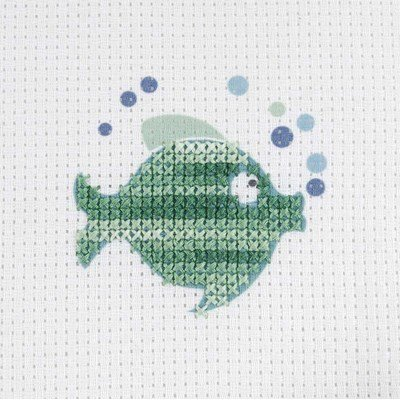 Broderie le poisson vert - DMC