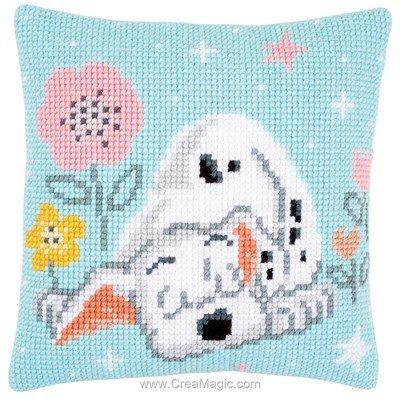 Coussin mon dalmatien endormi de Vervaco au point de croix