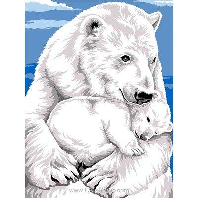 Canevas bercer son ourson polaire - Margot