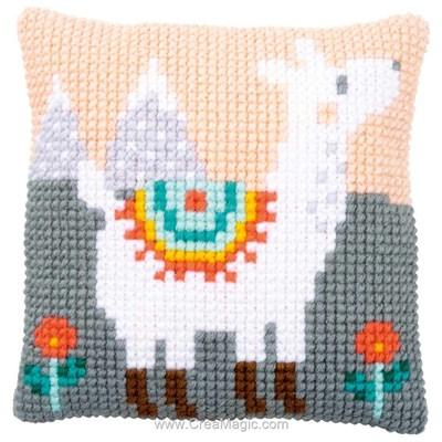 Kit coussin point de croix Vervaco petit lama