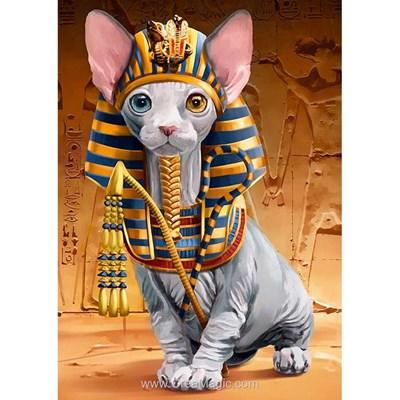 Kit broderie diamant Wizardi le chat pharaon