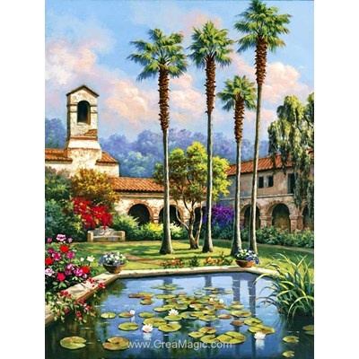 Kit broderie diamant jardin de paradis - Diamond Painting