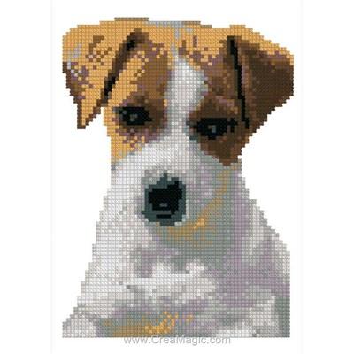 Mini kit Luc Création à broder chien