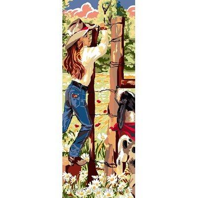 Luc Création canevas cowgirl