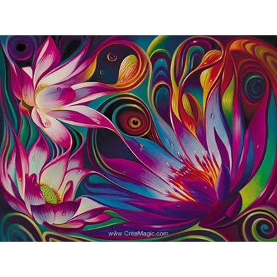 Broderie diamant lotus mystique - Diamond Painting