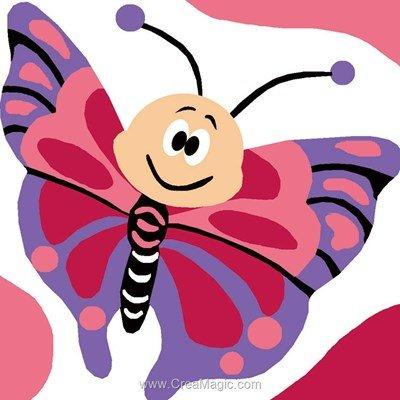 Papillon de rêve kit canevas enfant - Luc Création