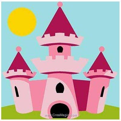 Kit canevas enfant château de princesse - Margot