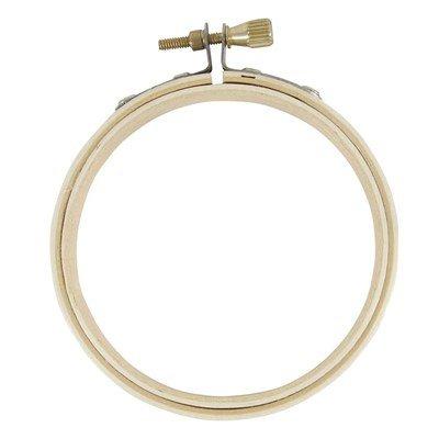 Mini cadre tambour en bois pin 10 cm de DMC