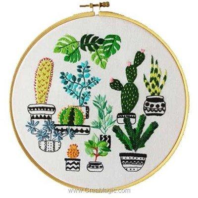 Kit broderie imprimée jardin de cactus de Princesse