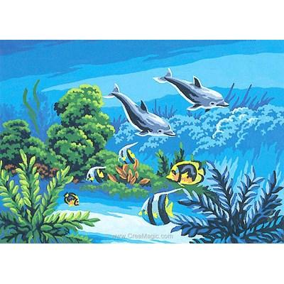 Canevas dauphins des eaux tropicales de Collection d'art