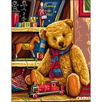 Rafael Angelot canevas mon vieux ours teddy