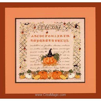 Modèle au point de croix Le Bonheur Des Dames saison : le mois d'octobre