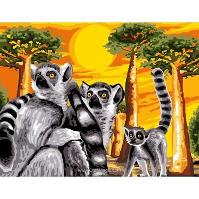 Luc Création canevas les lémuriens