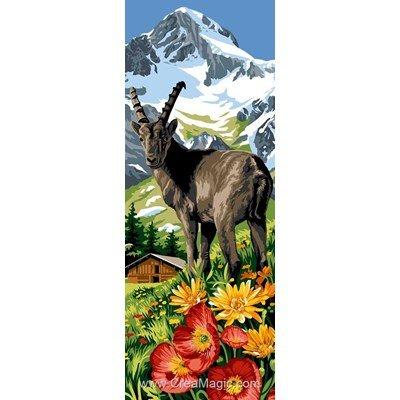 Margot canevas bouquetin en pleine montagne