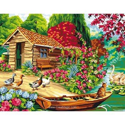 Canevas la cabane de pêcheur de Mimo Verde